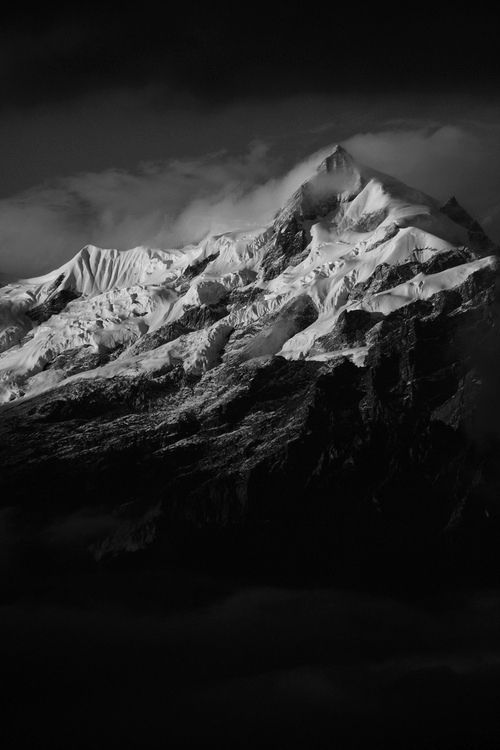 Mountains black and white photography