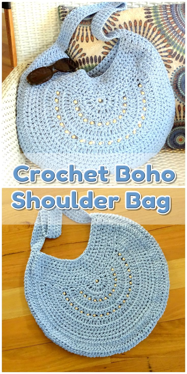 Boho bag Handmade crochet bag made to order in a colour of your choice. Request …