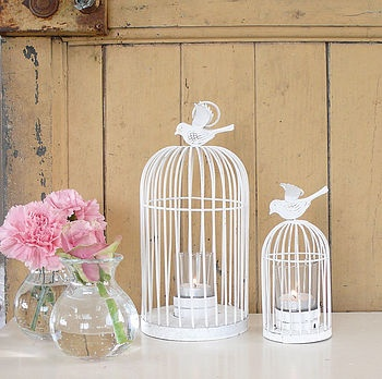 Bird Cage Tea Light Holder by Lilac Coast £7.25 Living room, on top of fire place x2 (one big, one small)