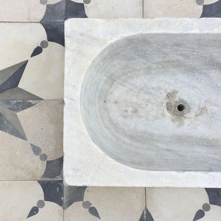 We've been searching #Spain for #stunning #reclaimed #Marble basins, and look what we found!  #Bathroom #Basins #Marble #Home #Decor #Homestyle #Lifestyle #Interior #InteriorDesign #Design #Designer #Bertsfinds #Reclamation #Original #Spanish #Traditional #Tiles #Floor #Flooring #Inspiration #Architexture