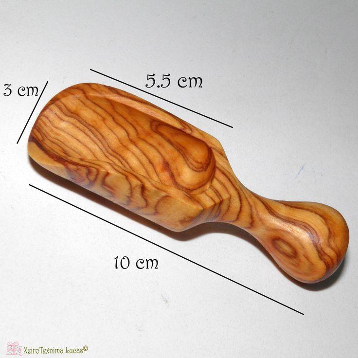 Σέσουλα φτιαγμένη από ξύλο ελιάς. Bailer made of olive wood.