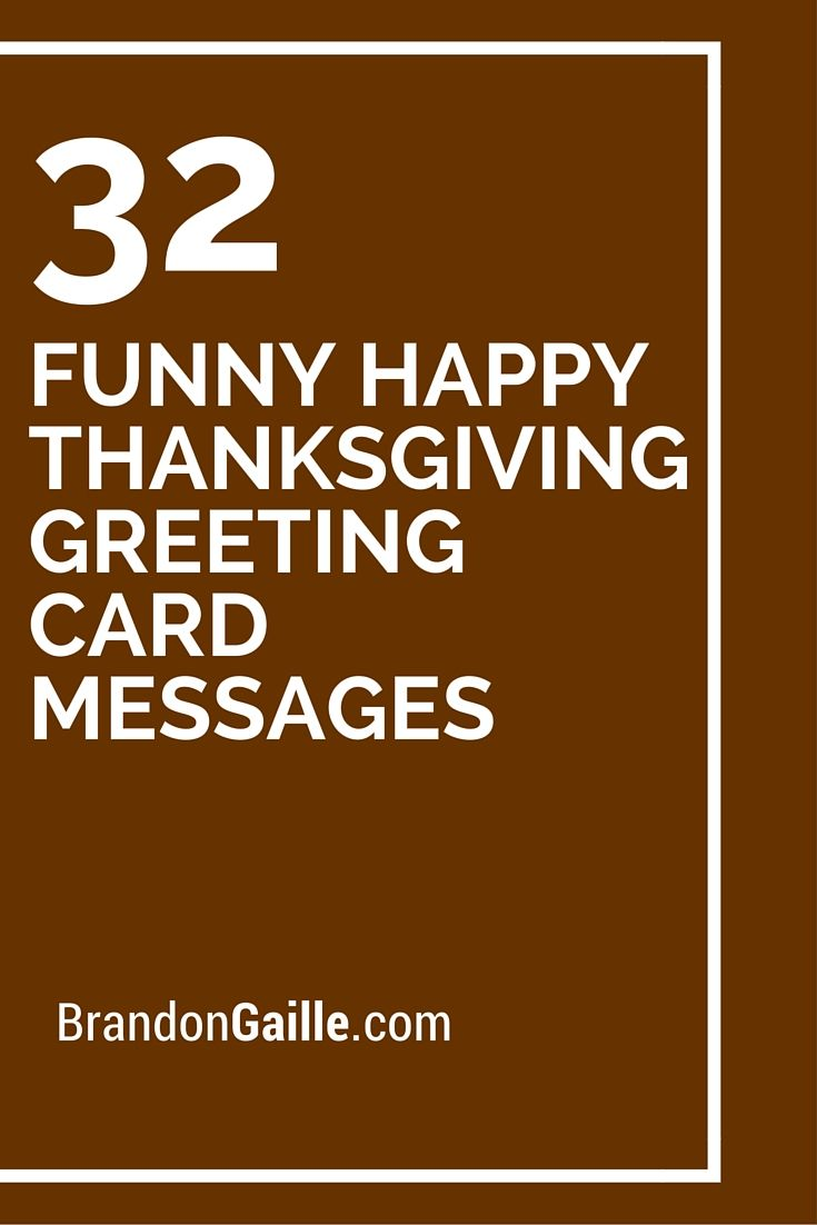 32 Funny Happy Thanksgiving Greeting Card Messages