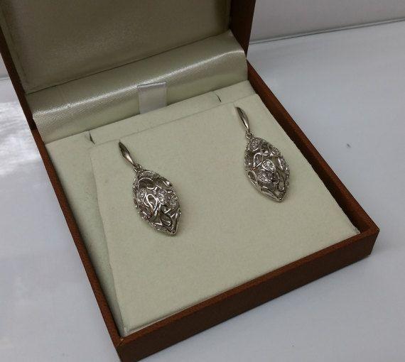 Ohrringe Ohrstecker Silber 925 Kristalle rar SO222 von Schmuckbaron