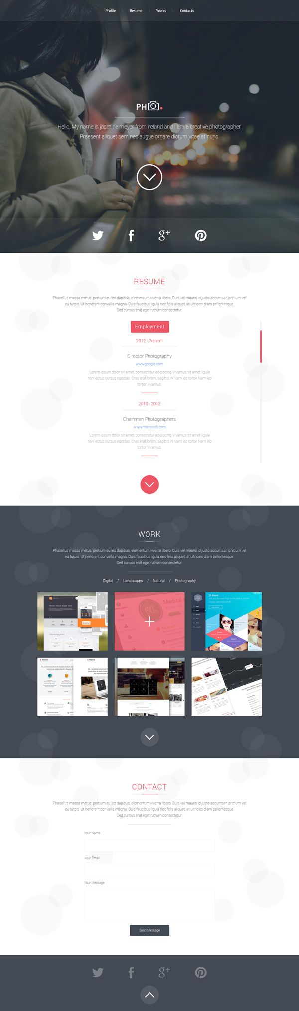 PH vCard is a unique multipurpose PSD template perfect for your personal resume. It include different pages like...