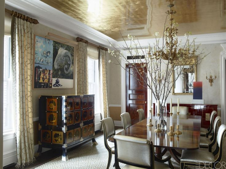 20 Beautiful Ceilings That Anchor The Entire Room Elegant DiningElle DecorHouse
