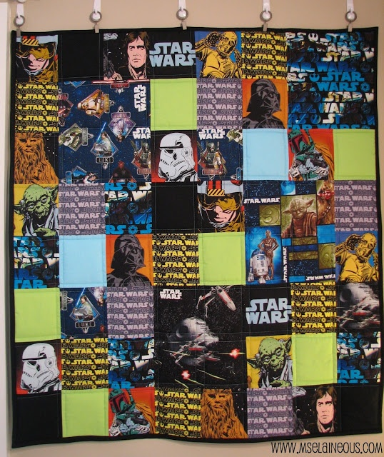 Ms. Elaineous Teaches Sewing: Star Wars Quilt