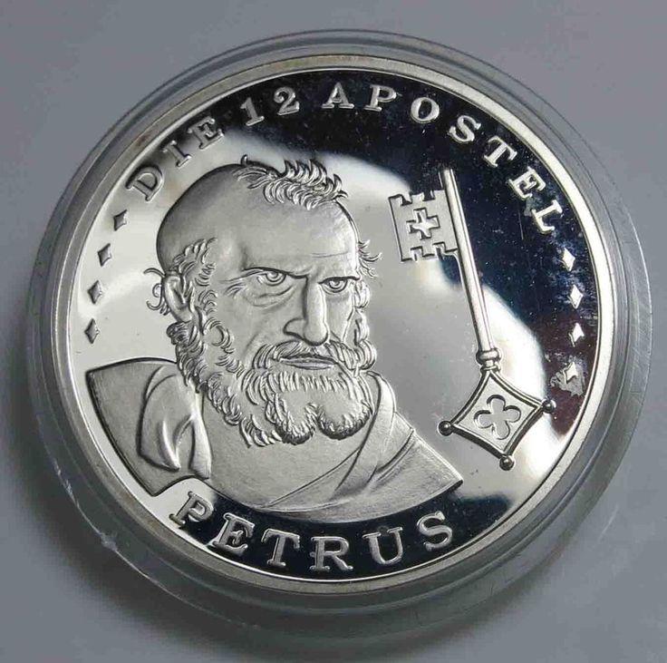 Medaille Die 12 Apostel - Petrus - 1/2 Unze .925 Silber Polierte Platte /10