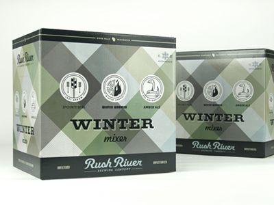 winter mixer.Beautiful Beer, Westwerk Design, Rivers Winter, Beer Packaging, Packaging Design, Rush Rivers, Winter Mixer, Beer Design, Mixer Cases