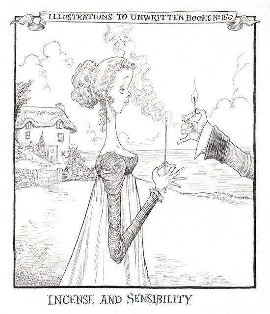 Incense and Sensibility. Chris Riddell - Illustrations of Unwritten Books