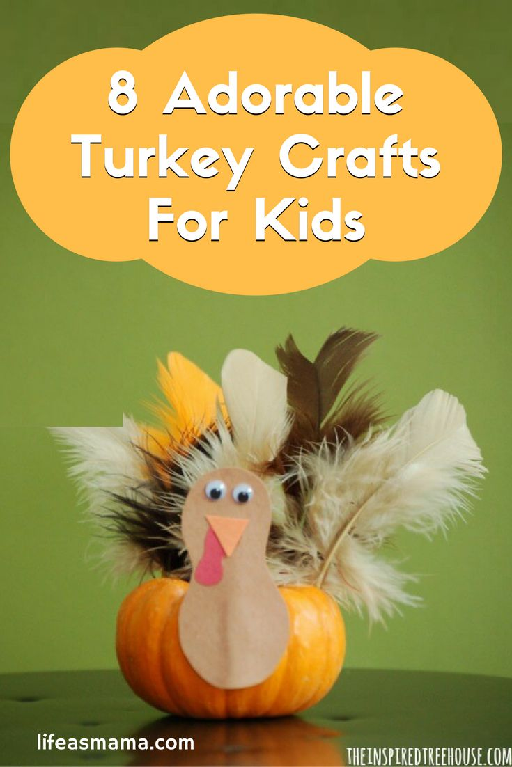 You can go fashionable with a turkey hat or incorporate your leftover pumpkins into your DIY, either way, these adorable crafts definitely don't disappoint.