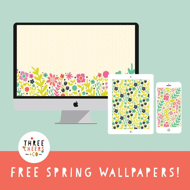 Free Spring Floral Wallpaper Download - iPhone, iPad, desktop - Three Cheers + Co.