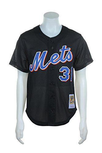 Cheap Mike Piazza Black New York Mets Authentic Throwback Mitchell