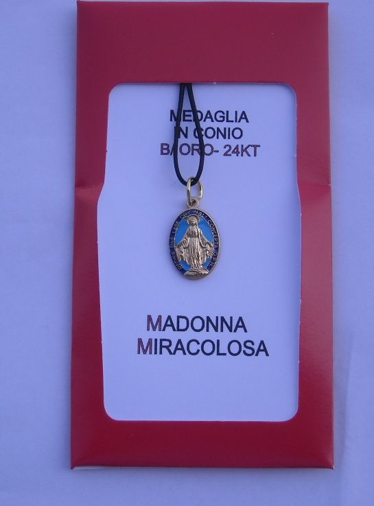 Miraculous Medal. 20 mm. Contact us on info@tiemmecreazioni.it