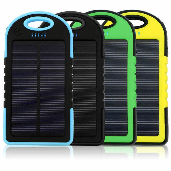 Charge your devices on the go with this Waterproof Solar Charger Battery Panel Double USB Power Bank Cell-smartphone, tablets and other USB devices. With a capacity of 5000mAh, it can charge your smartphone from one to four times on a single battery charge depending on your phone model.