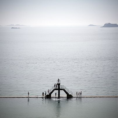 Saint Malo - one of my favorite beach which has a built in natural swimming pool