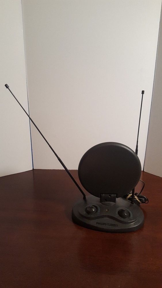 Phillips Magnavox Antenna W Adapter Tv Cable Regular Viewing