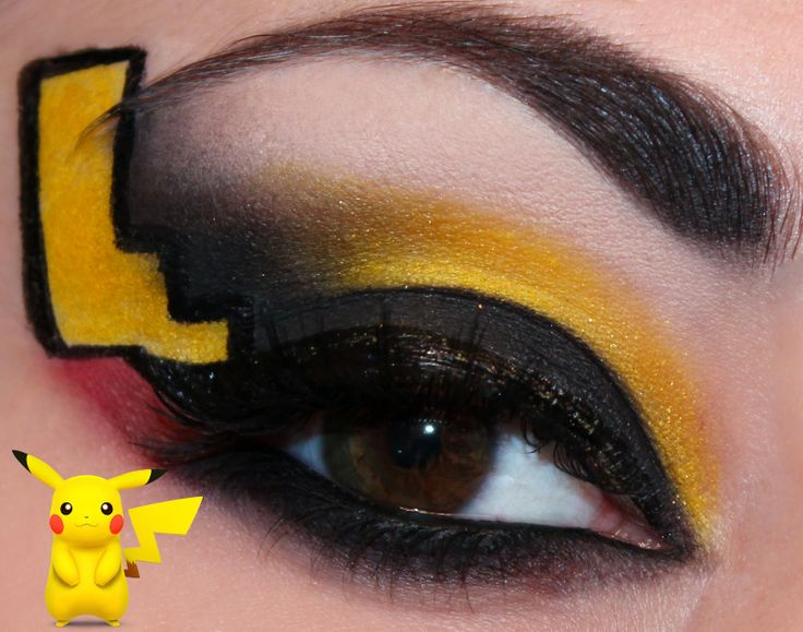 Luhivy's favorite things: Pokemon Series : Pikachu Inspired Makeup Look