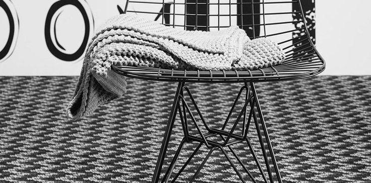 Černo bílý vzorovaný koberec / Black and white pattern carpet, Boca Praha http://www.bocapraha.cz/cs/produkt/693/move-1200/