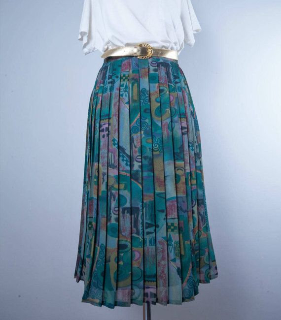 Vintage Accordion Skirt by MiauhausLook on Etsy