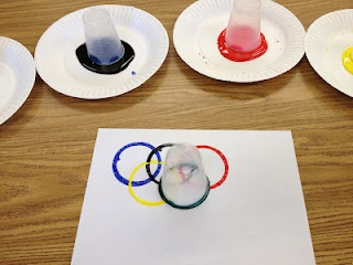 Apples and ABC's: Adventures in Kindergarten: Olympic Rings and THIS SATURDAY!!