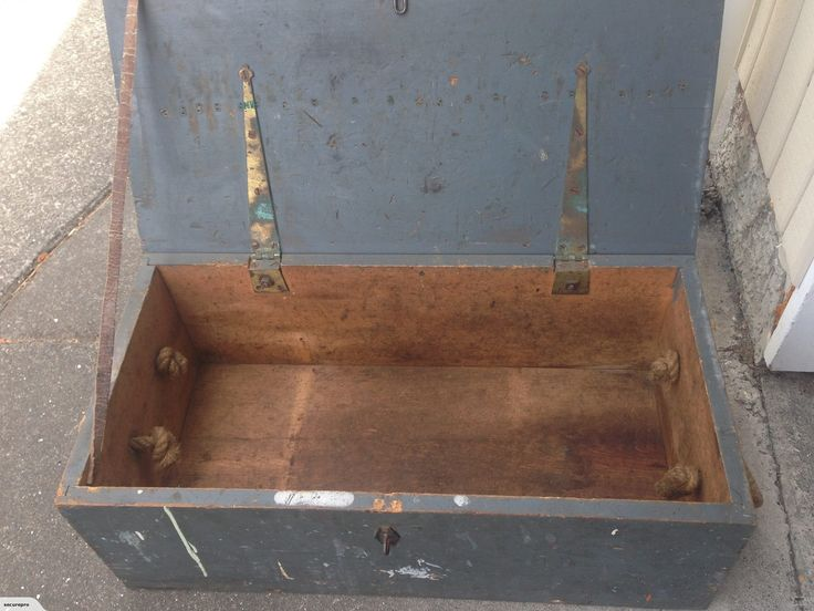 Old Wooden Toolbox | Trade Me
