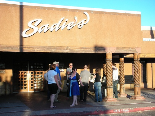 Sadie's in Albuquerque: By far the best salsa and green chile you will ever have. Go there all the time because I crave the stuff!