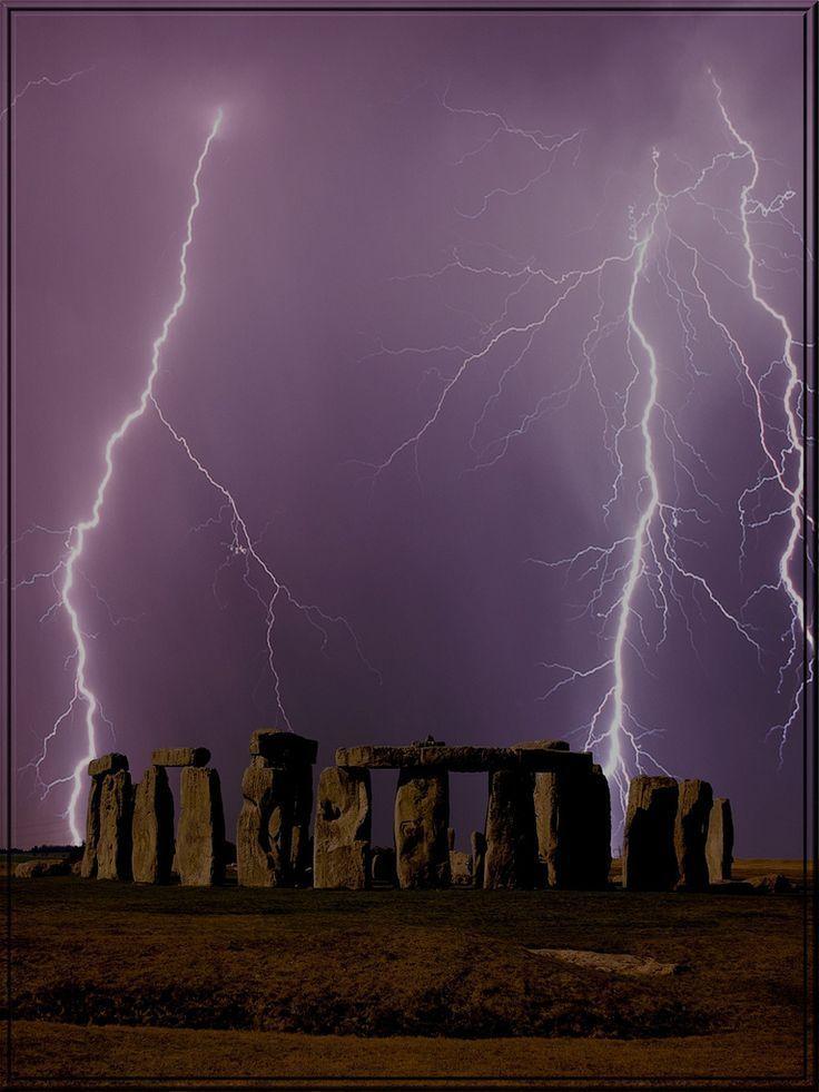 Stonehenge Lightning Storm