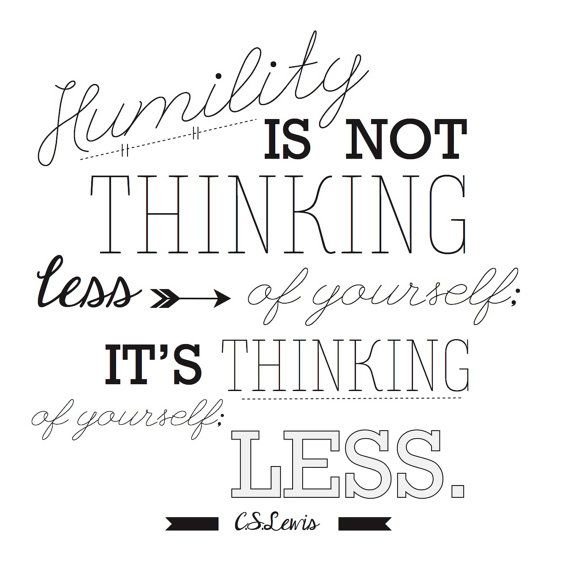 CS Lewis Humility Quote For Ezra Taft Benson Lesson 18