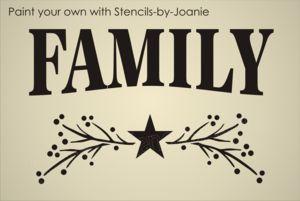 Primitive Wall Stencils | Primitive STENCIL Family Pip Berry Twig Vine Barn Star signs
