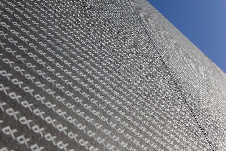 The Keiyo Bank, Yachiyo-Midorigaoka Branch, Japan 2014. Architect & design/graphics: A.KURYU ARCHITECT & ASSOCIATES Co., Ltd., prefabrication: TAKAHASHI CURTAIN WALL CORPORATION.