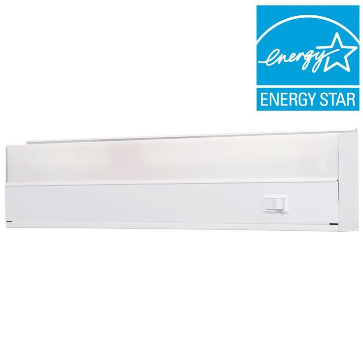 GE White 18 in. Fluorescent Light Fixture