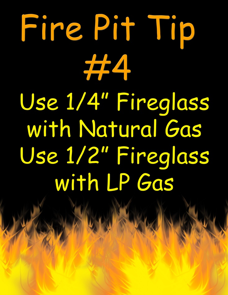 Use 1/4″ Fireglass with Natural Gas and 1/2″ Fireglass with LP Gas    #firepit