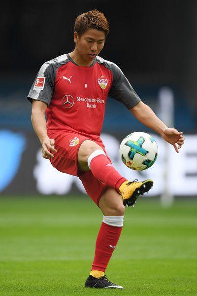 Takuma Asano of Stuttgart during the Bundesliga match between Eintracht Frankfurt and VfB Stuttgart at Commerzbank-Arena on September 30, 2017 in Frankfurt am Main, Germany.