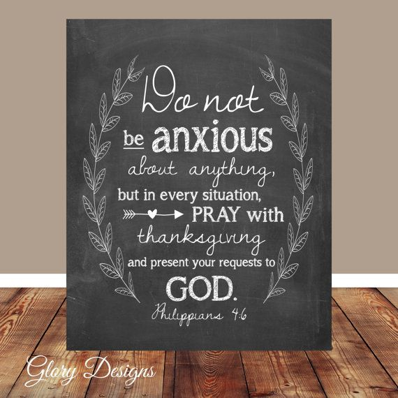 Bible verse, Scripture Art, scripture printable, Do not be anxious, Philippians 4:6, wreath printable, Printable, Chalkboard, Wall art print