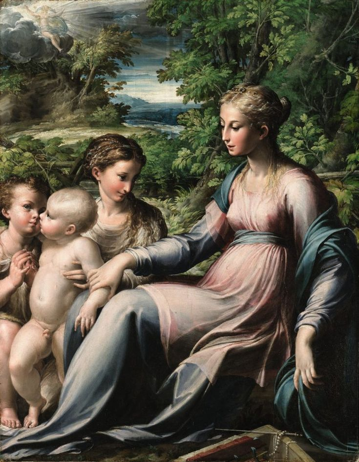 Parmigianino, The Virgin and Child With Saint Mary Magdalene and the Infant Saint John the Baptist. Courtesy of the Department for Culture, Media & Sport.