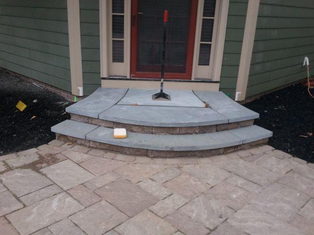 10 images about front porch on pinterest concrete porch for Bluestone front porch