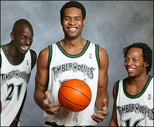 Kevin Garnett, Michael Olowokandi, and Troy Hudson