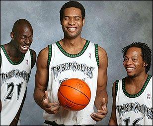 Kevin Garnett, Michael Olowokandi, and Troy Hudson