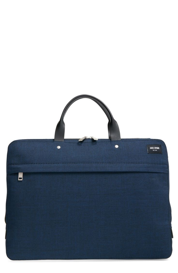 Free shipping and returns on Jack Spade 'Tech Oxford' Slim Laptop Briefcase at Nordstrom.com. A rugged laptop briefcase made from specially treated water-resistant nylon features a securable snap-tab laptop sleeve and an array of organizational pockets throughout. Carry all your business essentials worry-free of inclement weather.