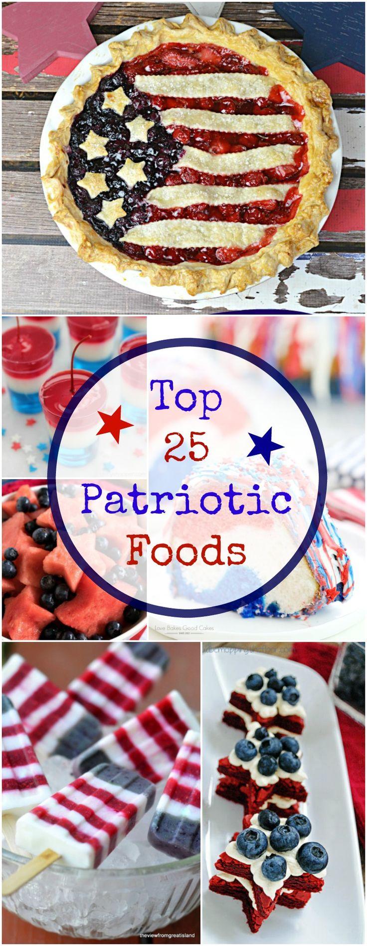 TOP 25 PATRIOTIC FOOD RECIPES
