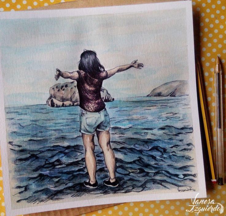 #Freedom #drawing #watercolor #vanesaizquierdo