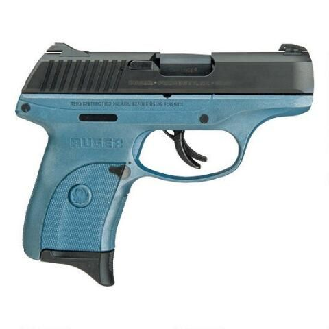 """Striker-fired Ruger LC9s 9mm with new """"Titanium Blue"""" polymer frame finish. 3.12"""" barrel, holds 7 rounds and weighs only 17.2 ounces."""