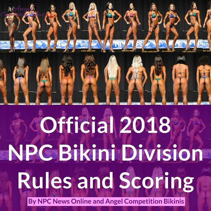 Rules 1. Bikini competitors must wear a two-piece suit. The bottoms cannot be a thong and the front cannot be too low. All styles of Angel Competition Bikinis are acceptable at NPC sponsored competitions. We factor in your height and glute measurement to ensure the front of your suit is the proper rise. The NPC advises competitors to bring 2 suits to check-in in the event that one of your suits is not acceptable. Because of our high quality connectors, and perfected fit, if you have an…