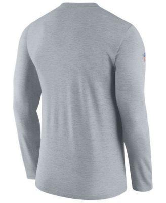 Nike Men's New England Patriots Coaches Long Sleeve T-Shirt - Gray XXL