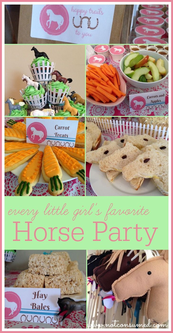 Every little girl's favorite horse party.  You've gotta see these ideas!  Love it- nice on a budget, too