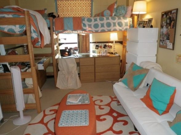 My Daughters Dorm Room, My daughter and her childhood friend dorm room of their freshman year at the University of  Mississippi a.k.a Ole Miss., The space, my daughter and I along with her roommate and her mom designed for our girls so that they would feel at home in the stale dorm rooms.They loved it a lot , Dorm Rooms Design