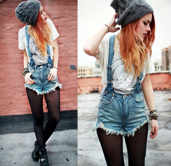 The Penny Jumper (by Lua P) http://lookbook.nu/look/4670727-Kill-City-Tee-Overalls-Coltranes-The-Penny-Jumper