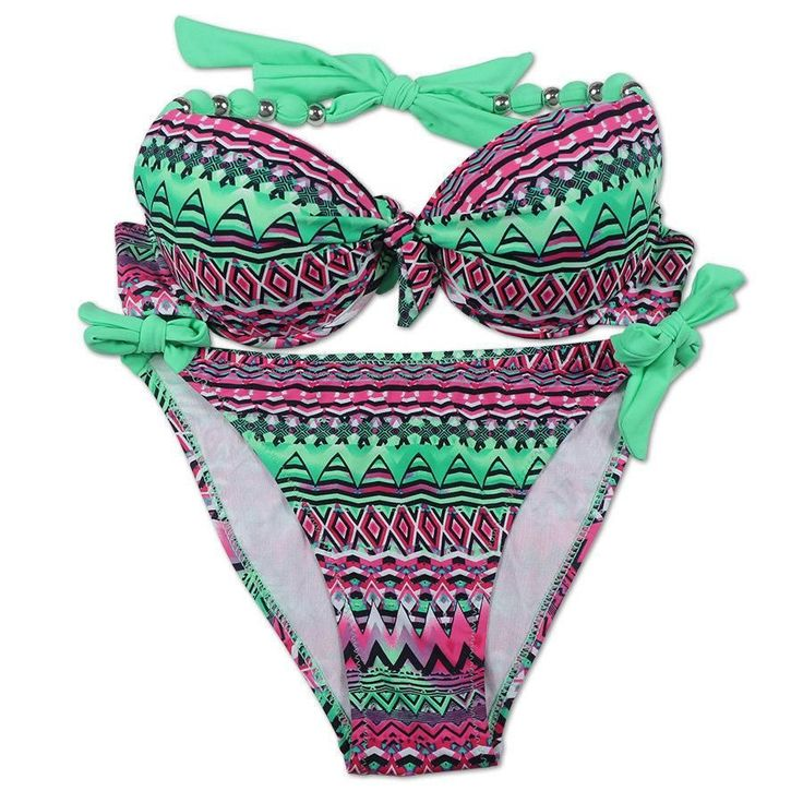 EONAR Bikinis Women 2017 Print Floral Swimsuits Brazilian Push Up Bikini Set Retro Bathing Suits Plus Size Swimwear Female XXL