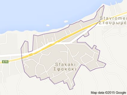 Map of sfakaki crete