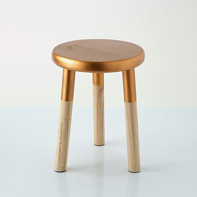 Copper topped stool
